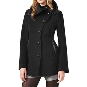 Mackage Elise Asymmetrical Peacoat Label L fits M